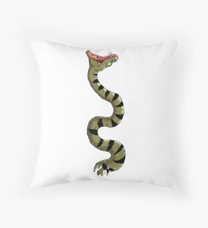 Snake! Throw Pillow