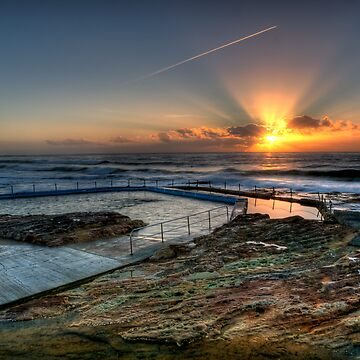 Sunlit Jetstream - South Curl Curl Sunrise by scatrdjason