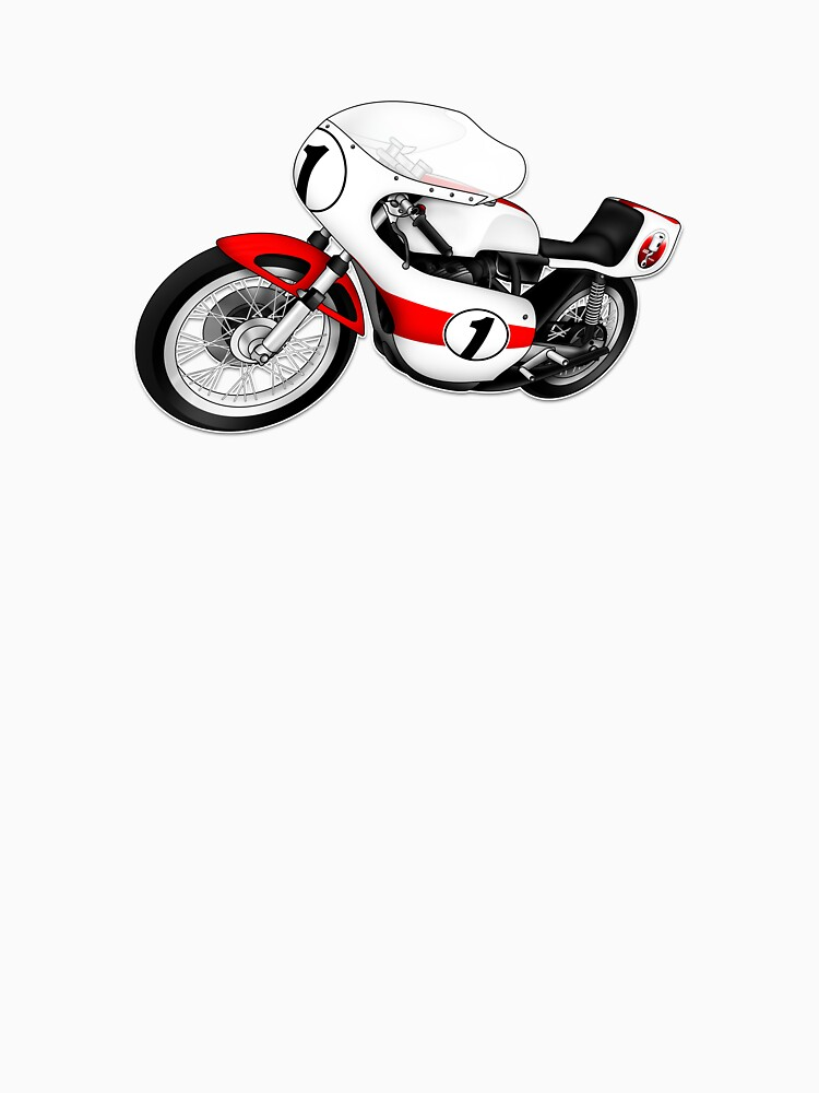 Motorcycle T-shirts Art: White & Red by yj8dsk57