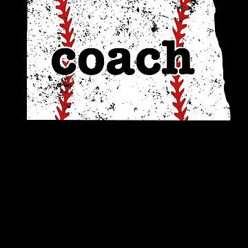 North Dakota Tee Baseball Coach Shirt Softball Coach Shirt by shoppzee