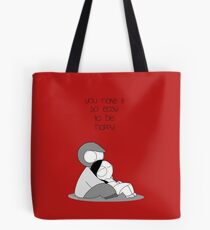 Easy To Be Happy Tote Bag