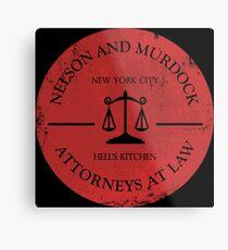 Nelson and Murdock Metal Print