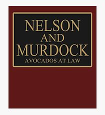 NELSON AND MURDOCK AVOCADOS AT LAW Photographic Print