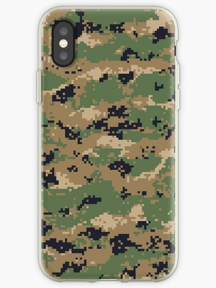 MarPat Style Digital Woodland Camouflage Phone Cases by Steve Crompton