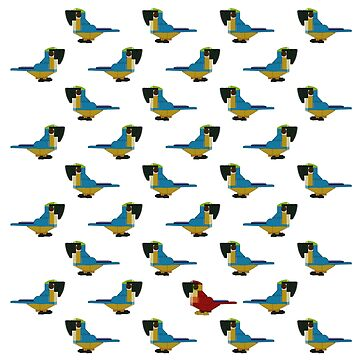 Brick Flock Blue Macaws by katecrashed