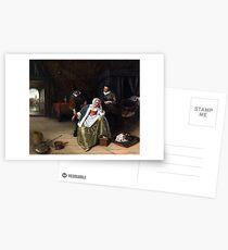 Jan Steen The Lovesick Maiden Postcards