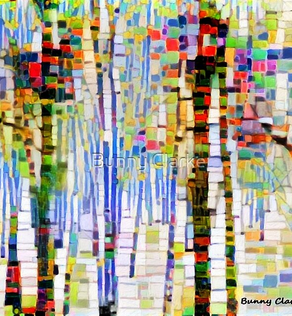 Winter Woods Abstract (view large) by Bunny Clarke