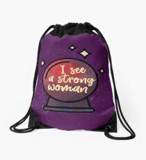 I see a strong woman Drawstring Bag