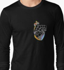Fractal Heart with chromatic aberrations Long Sleeve T-Shirt
