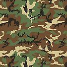 Vintage Retro Woodland Pattern Camouflage Phone Cases by Steve Crompton