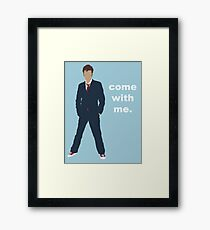 Doctor Who David Tennant Quote  Framed Print