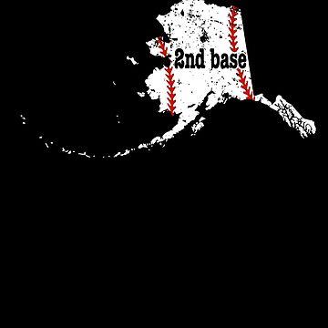 2nd Base T Shirt Alaska 2nd Base Softball Shirt by shoppzee