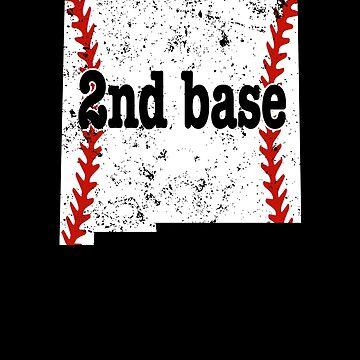 2nd Base Softball Shirt New Mexico 2nd Base Baseball by shoppzee