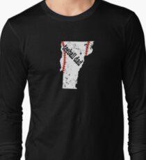 Vermont Baseball Tee Ball Dad Coach Shirt Long Sleeve T-Shirt