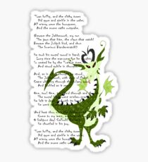 Jabberwocky poem  Sticker
