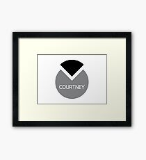 american first name female: Courtney Framed Print