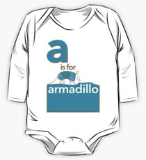 A is for Armadillo One Piece - Long Sleeve
