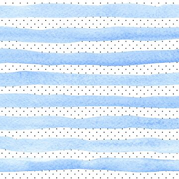 Polka Dots Blue Stripes Pattern by ClaudiaFlores