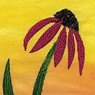 Coneflower quilted by Meg Marchiando