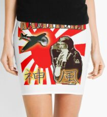 Kamikazi, War Plane, ZERO, Japan, Zero Pilot, Japanese, World War II, WW2, WWII Mini Skirt