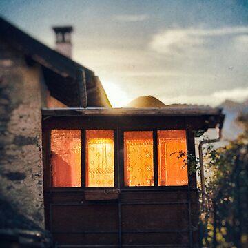 Veranda at sunset by sil63
