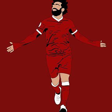 Ilustración de Mo Salah - LFC Liverpool FC Regalo - Arte - Cartel - Impresión - Reloj - Camiseta - Tee de ConArtistLFC