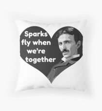 Tesla Love Throw Pillow