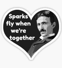 Tesla Love Sticker