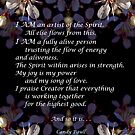 Artist of the Spirit Affirmation by Candy Paull