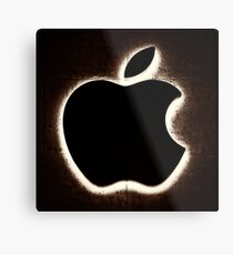 Illuminated Apple Store Logo Metallbild