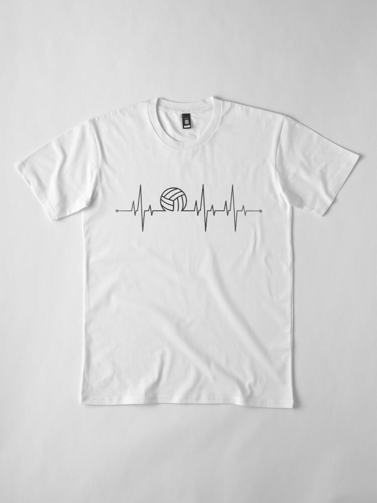 Alternate view of Volleyball Heartbeat Premium T-Shirt