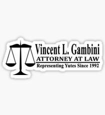 Vincent L Gambini - My Cousin Vinny Sticker