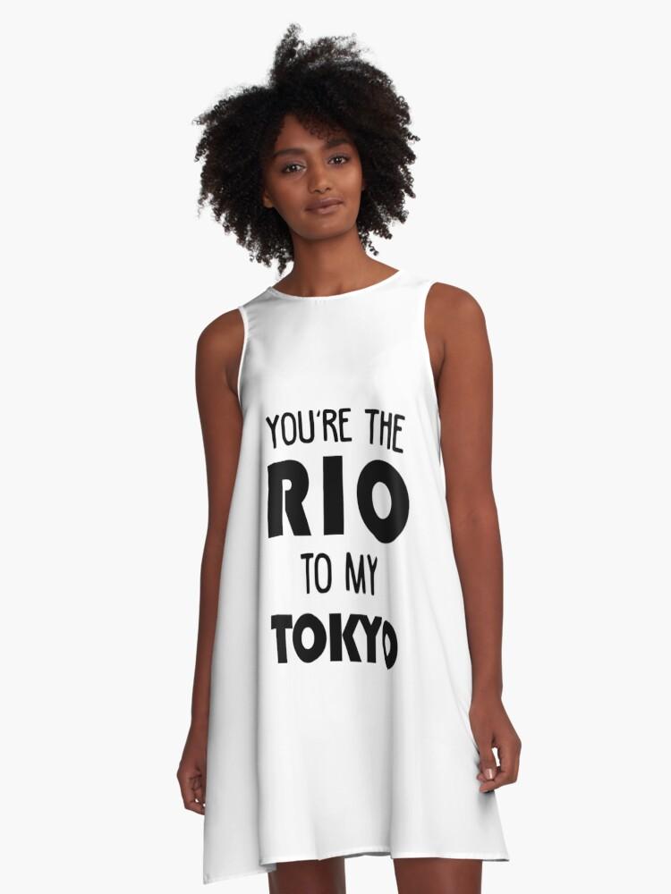 'You're the Rio to my Tokyo - Money Heist - La Casa de Papel' A-Line Dress  by srturk
