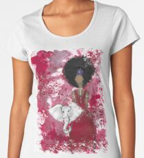 Delta Angel, Black Angels, African American Women's Premium T-Shirt
