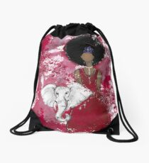 Delta Angel, Black Angels, African American Drawstring Bag