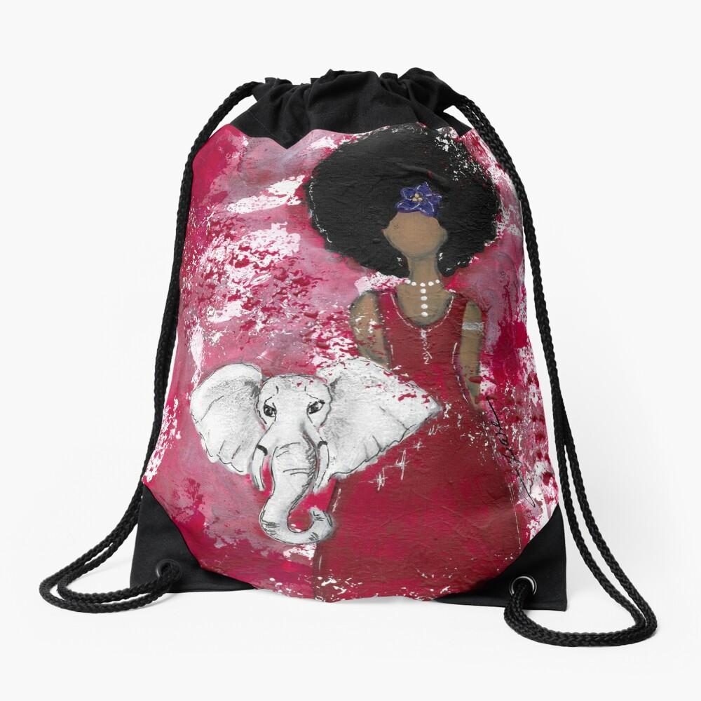 Delta Angel, Black Angels, African American Drawstring Bag Front
