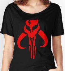 Mandalorian Skull Boba Fett Women's Relaxed Fit T-Shirt
