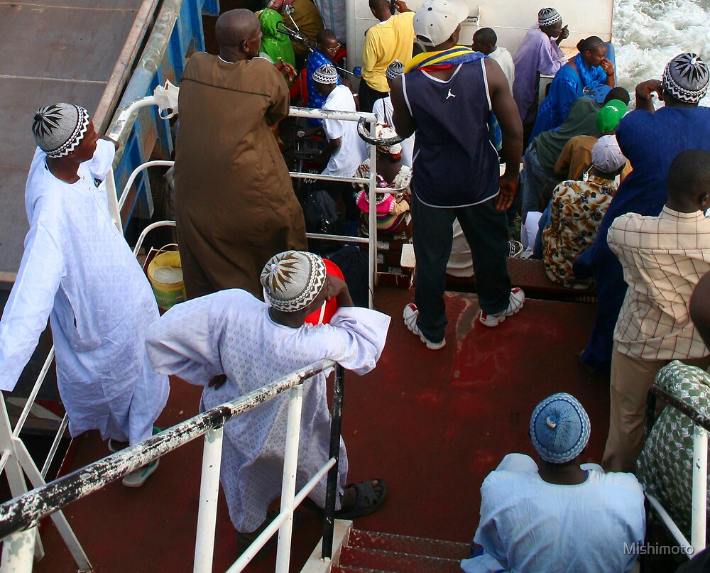 Ferry Passengers, Barra Gambia by Mishimoto