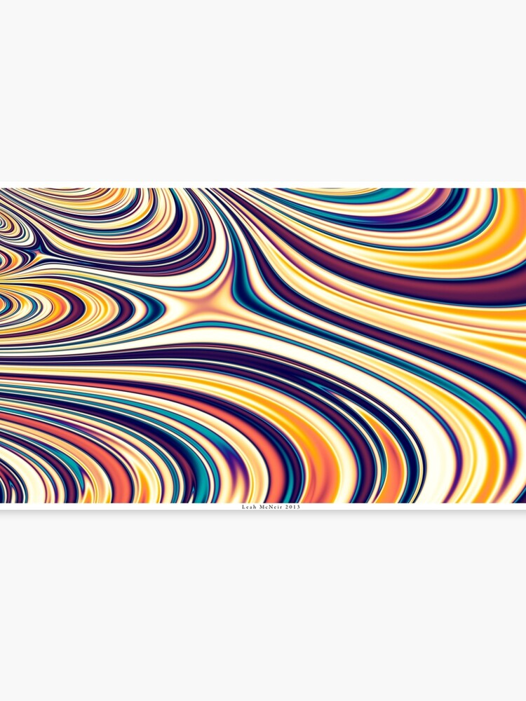 Color and Form Abstract - Curved Rounded Lines Flowing | Canvas Print
