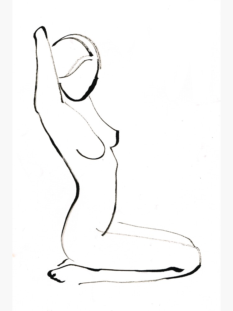 Nude Model Drawing by CatarinaGarcia