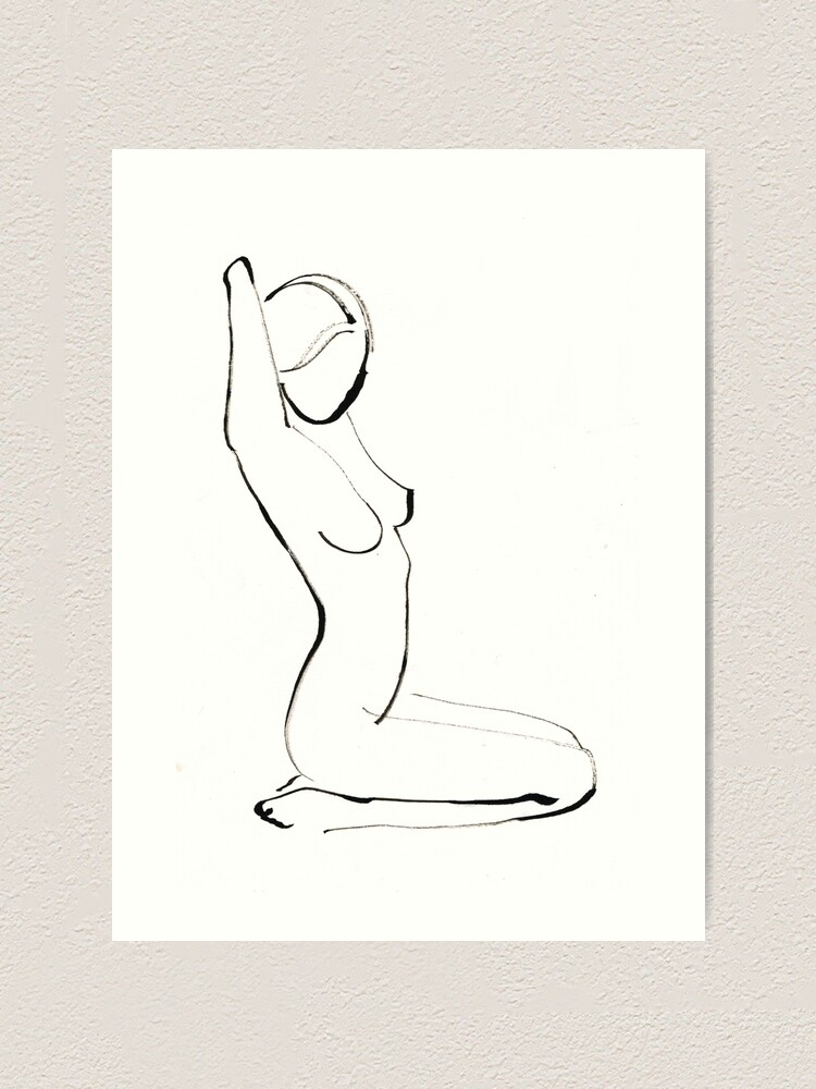 Alternate view of Nude Model Drawing Art Print