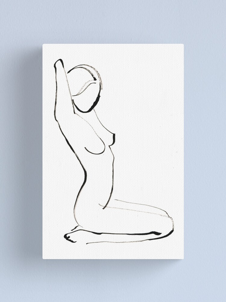 Alternate view of Nude Model Drawing Canvas Print