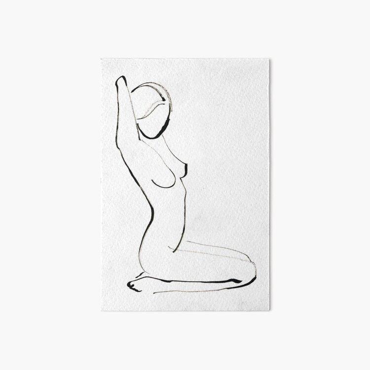 Nude Model Drawing Art Board Print