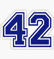 Number 42 Sticker