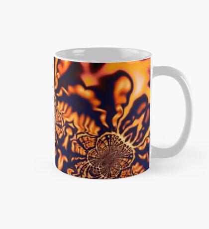 Monks Pondering Sacred Geometry  - Fractal Surreal Abstract Mug