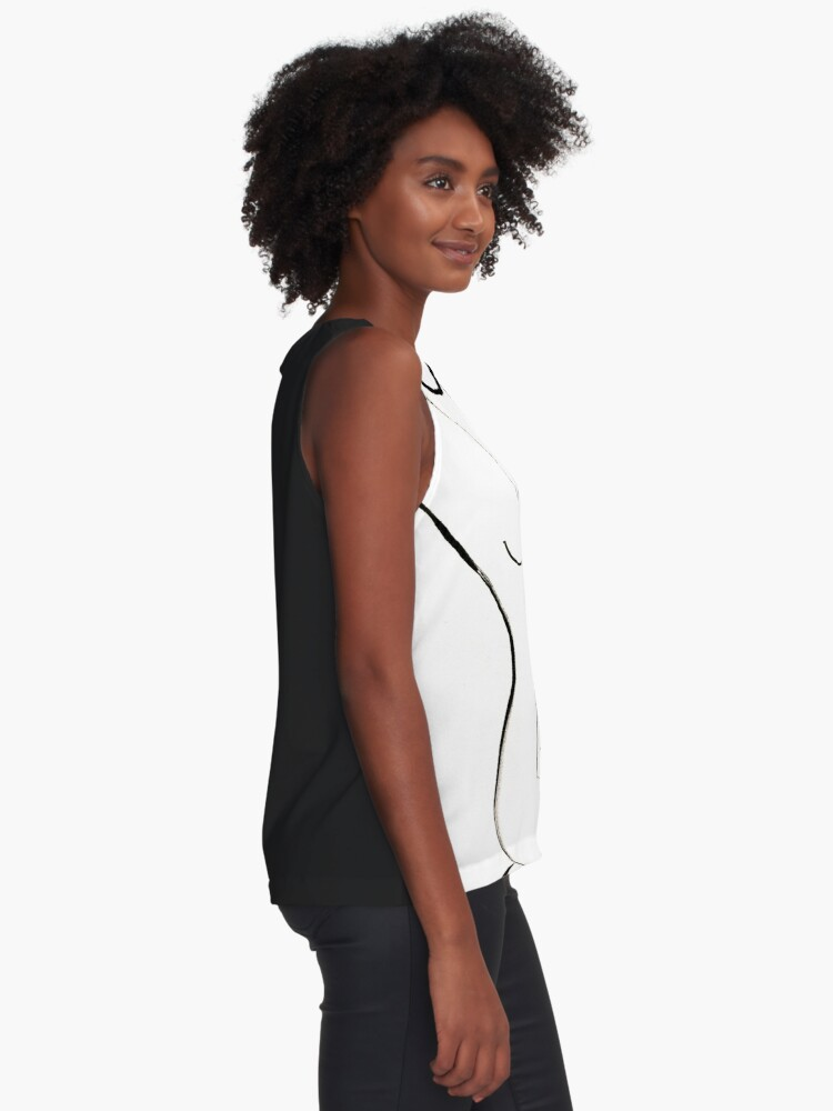 Alternate view of Nude Model Drawing Sleeveless Top
