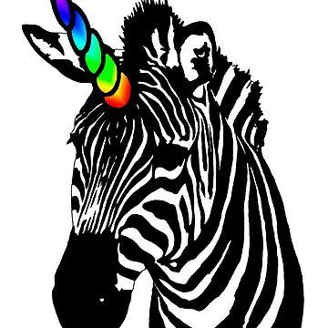 rainbow unicorn zebra by Galbrin