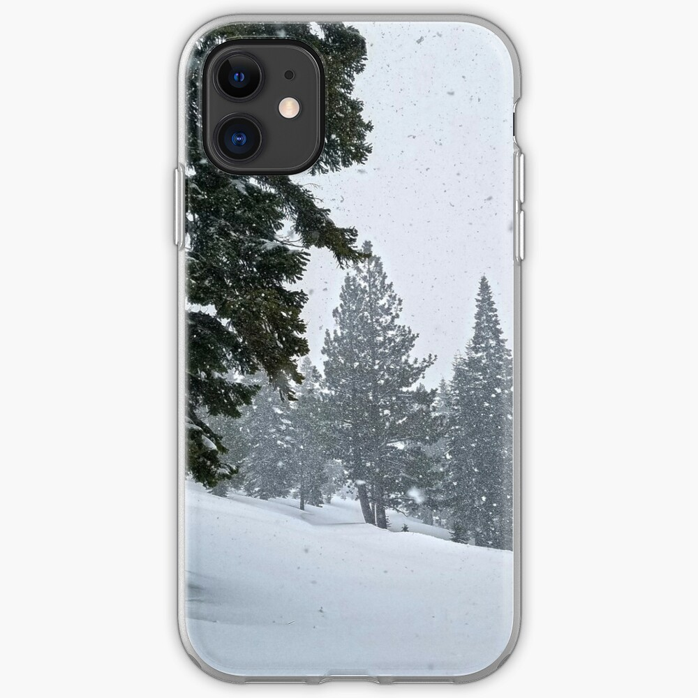 Snowstorm and Forest iPhone Case & Cover