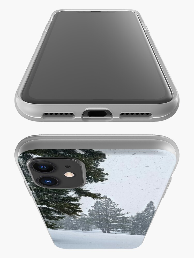 Alternate view of Snowstorm and Forest iPhone Case & Cover