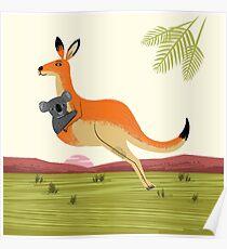 The Kangaroo and The Koala Poster